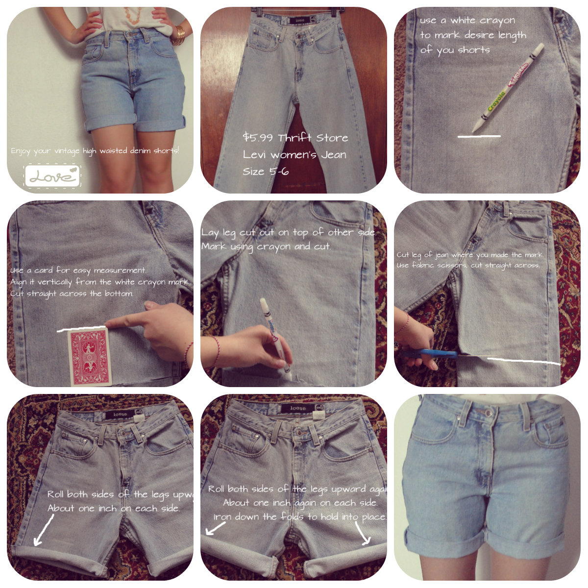 How To Make High Waisted Jean Shorts - The Else